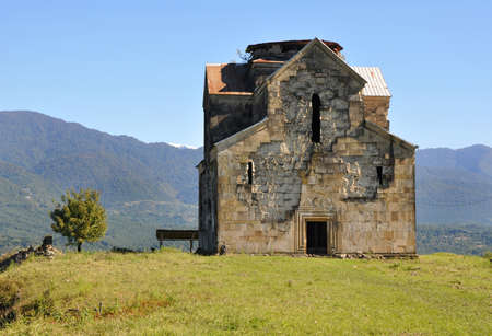 our lady of sorrows: Cathedral of Our Lady of blachernitissa village Agubediya. Abkhazia