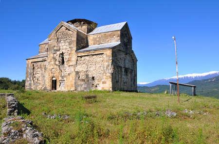our lady of sorrows: Medieval orthodox church in the village of Agubediya. Abkhazia