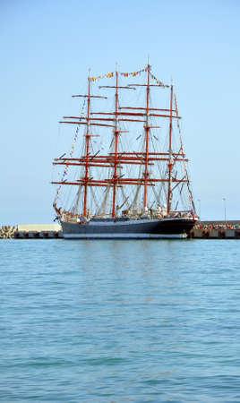 Bark Sedov in the port of Sochi. Russia