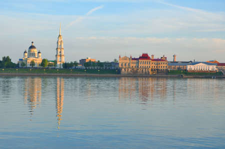 The building of the Rybinsk Museum-Preserve and the Transfiguration Cathedral. Rybinsk. Russia