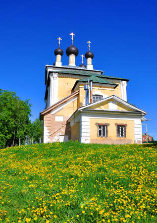uglich russia: Church of the Holy Martyrs Florus and Laurus in the town of Uglich. Russia