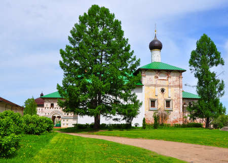 Church of the Annunciation with a refectory in Borisoglebsk Monastery. The village of Borisoglebsk. Russia. It is a branch of the Rostov Museum-Reserve
