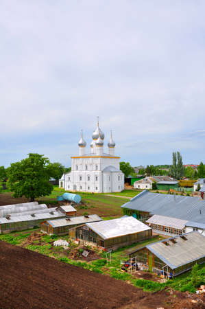 apses: Farm Courtyard Saviour Yakovlev monastery and church of the Transfiguration. Rostov, Russia
