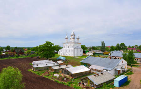 apses: Compound Savior-Yakovlev monastery and Church of the Savior on the Sands. Rostov, Russia