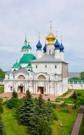 Conception of St. Annes Cathedral and Church of the Savior Yakovlevskaya-Yakovlevsky monastery in Rostov city. Russia