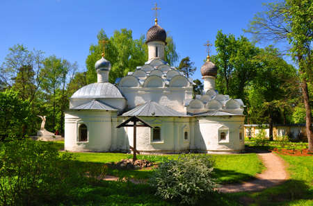apses: Church of the Archangel Michael in the Arkhangelskoye. Moscow region, Russia Editorial