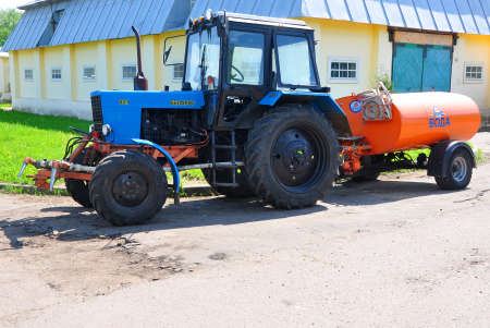 gorki: Tractor Belarus 82.1 on the territory of the Museum-Reserve Leninskie Gorki. Russia Editorial
