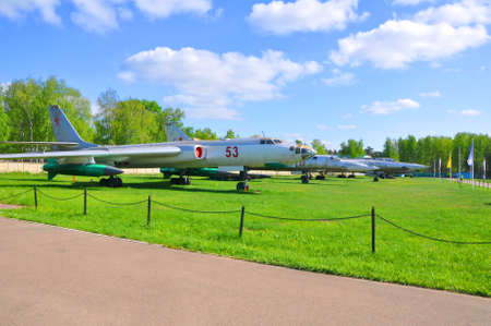 Long-range missile carrier bomber Tu-16K in the Air Force Museum in Monino. Russia Editorial