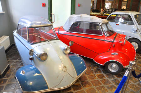 Cars Messerschmitt KR175  200 in the museum technique Vadim Zadorozhnogo. Arkhangelskoe, Moscow Region, Russia