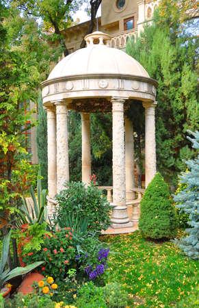 rotunda: KABARDINKA, RUSSIA: Arbor in the cultural center Old Park