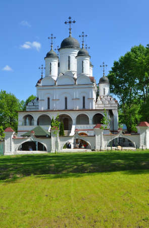 ESTATE VYAZEMY, RUSSIA - MAY 15, 2016: The Church of the Transfiguration.