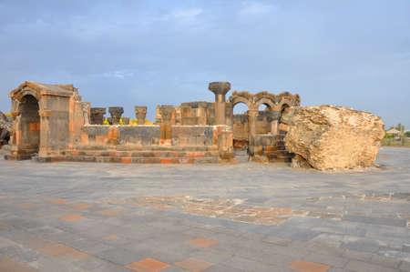 Temple of Zvartnots. Armenia