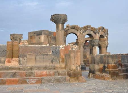 Zvartnots - Temple of Vigil angels. Armenia