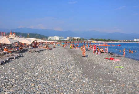 Beach resort Rosa Khutor in the Imereti lowland. SOCHI, RUSSIA