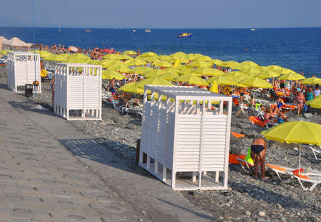 Equipped beaches in the Imereti lowland. SOCHI, RUSSIA