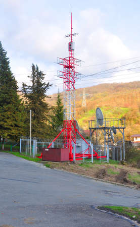 The tower of cellular communication in the village of Katkov Shel. Sochi, Russia