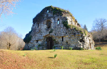 The temple in the place of Musser in Abkhazia