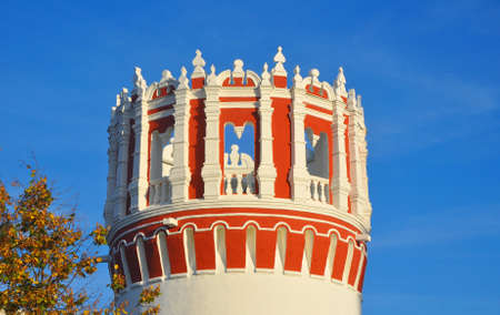 Nikolskaya Tower of the Novodevichy Convent. Moscow, Russia