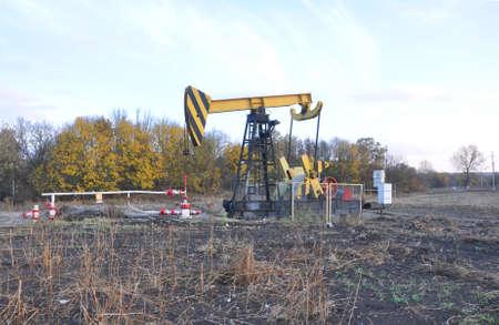 Oil pumping unit. Krasnodar region. Russia