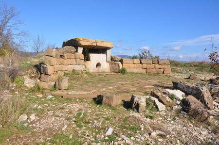 Compound dolmen on Mount Nexis. Surroundings of Gelendzhik, Russia 写真素材