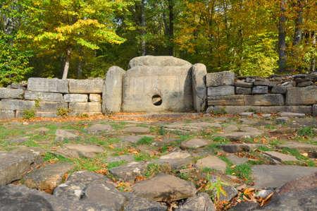 The central dolmen in the group of dolmens Zhane I. Krasnodar region. Russia
