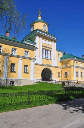 Gate Church of Mitrofan Bishop of Voronezh in the Pokrovsky Khotkov Monastery. Khotkovo, Moscow region, Russia