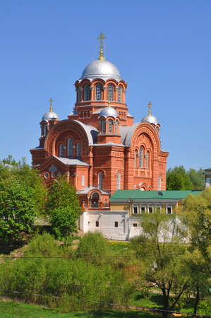 Cathedral of St. Nicholas the Wonderworker in the Pokrovsky Khotkovsky Monastery. Khotkovo, Moscow region, Russia