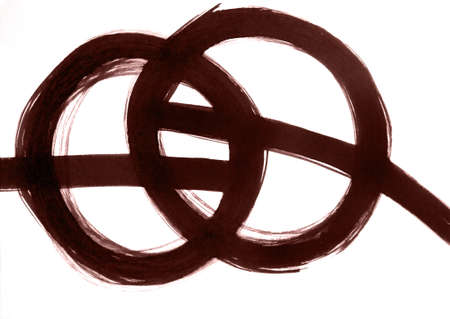 The energy harmony of two objects, the intersection of energies in an abstract style. Elements of yin and yang. Meditation profit