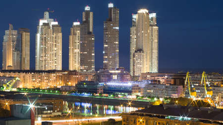 aires: Puerto Madero Neighborhood at Night, Buenos Aires, Argentina