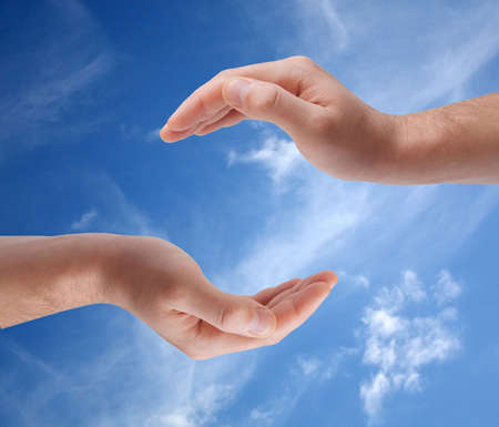 Cupped hands Stock Photo - 6552769