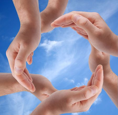 Circle made of hands Stock Photo - 6552768