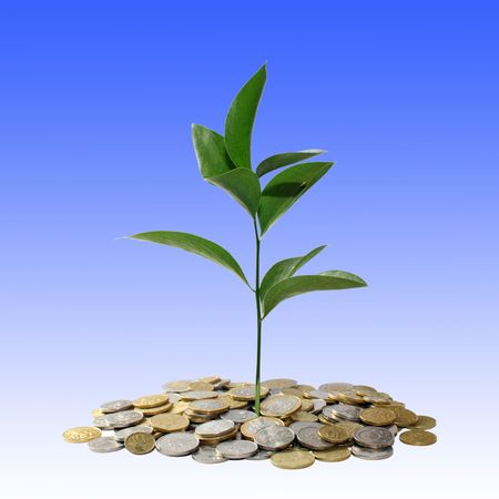 financial growth: Financial growth concept