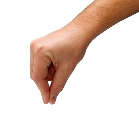 hand up:  Man hand picking