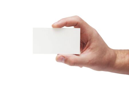 Card in man hand Stock Photo - 6602003