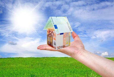 mano con dinero: Concepto financiero