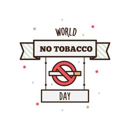 世界禁煙デー。ベクトルの図。