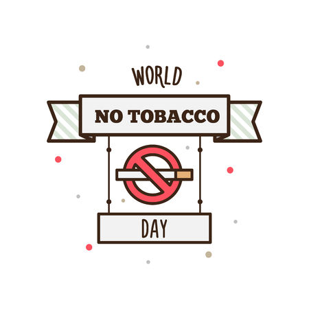 World No Tobacco Day. Vector illustration.