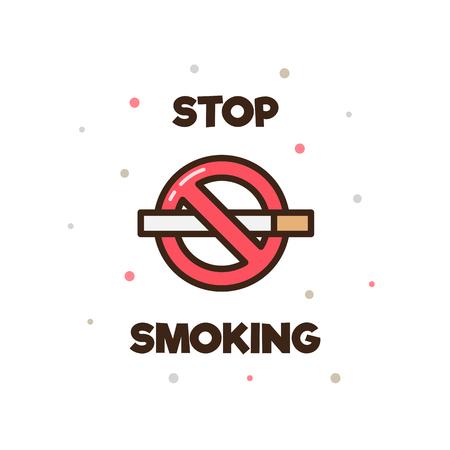 喫煙を止めます。ベクトルの図。  イラスト・ベクター素材