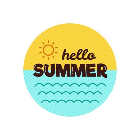 wave hello: Hello summer. Vector illustration. Illustration