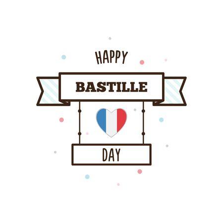 Buona giornata di Bastille. Illustrazione vettoriale. Archivio Fotografico - 80633493
