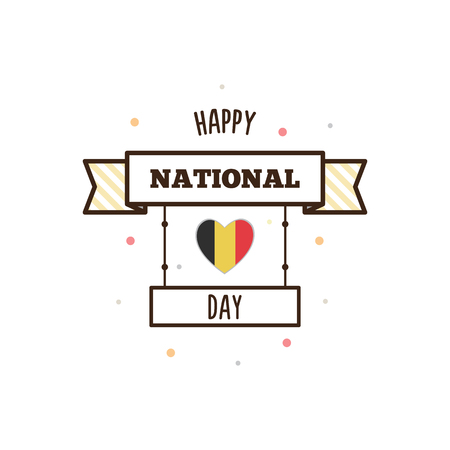 National Day of Belgium. Vector illustration.