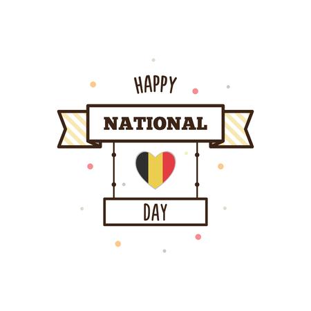 Nationale feestdag van België. Vector illustratie.