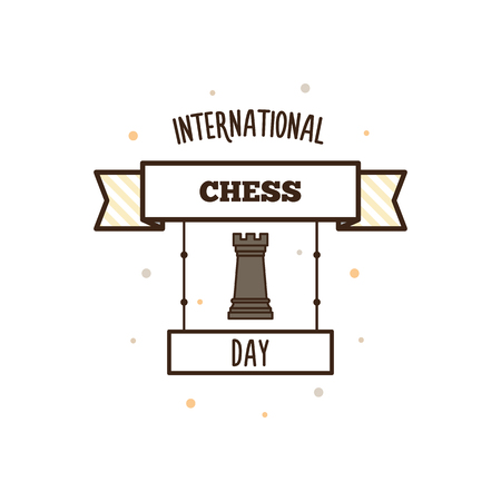 International Chess Day. Vector illustration.