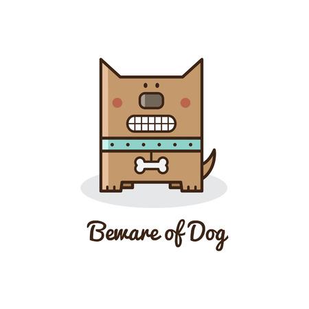 beware: Beware of dog. Vector illustration.