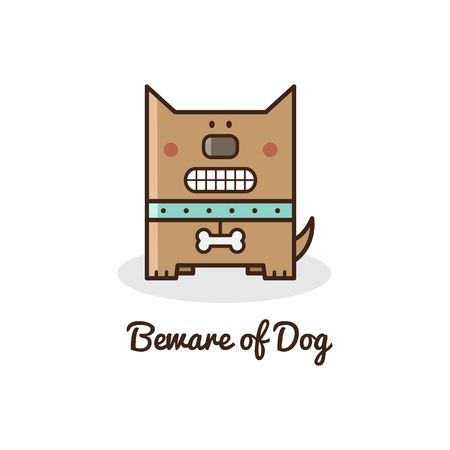 Beware of dog. Vector illustration.
