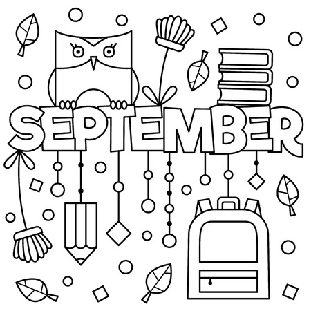 Black and white illustration. Coloring page.