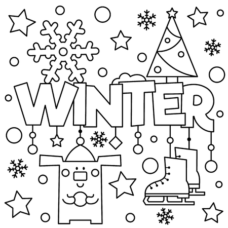 Black and white vector illustration. Coloring page. Ilustracja