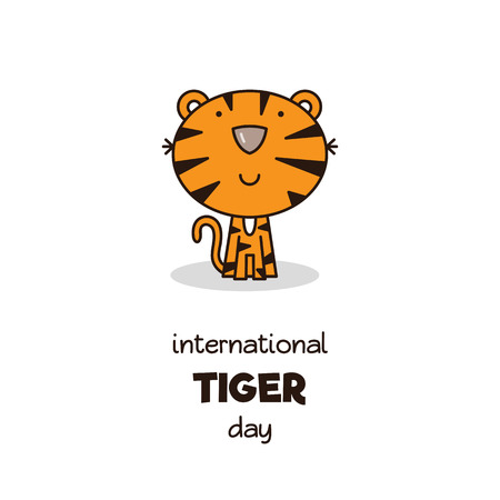 International Tiger Day. Vector illustration.