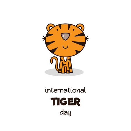 Internationale Tiger Day. Vector illustratie. Stock Illustratie