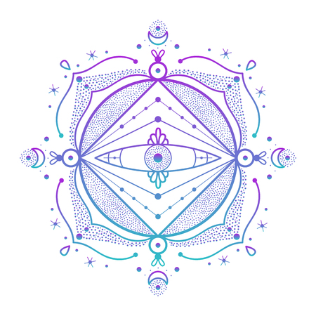 Abstract ornament. Vector illustration of beautiful ornament. 向量圖像